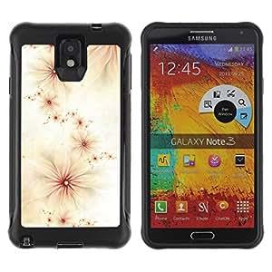 Suave TPU Caso Carcasa de Caucho Funda para Samsung Note 3 / Pink White Flowers Composition / STRONG