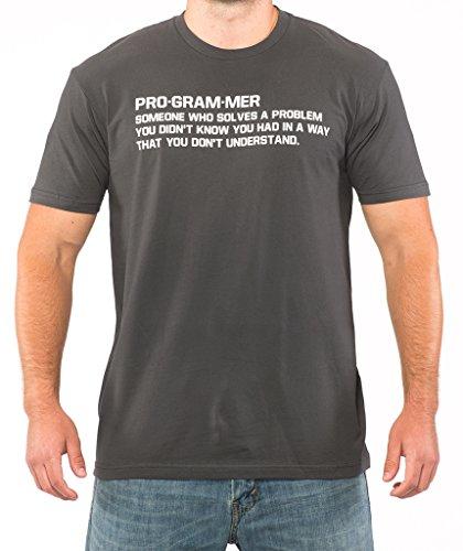 SignatureTshirts Men's PROGRAMMER Funny Computer Nerd T-shirt L Charcoal