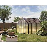 Monticello MONT-12-BK Greenhouse, 8' x 12', Black