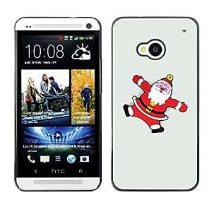 YOYO Slim PC / Aluminium Case Cover Armor Shell Portection //Christmas Holiday Santa Claus Snow Angels 1241 //HTC One M7