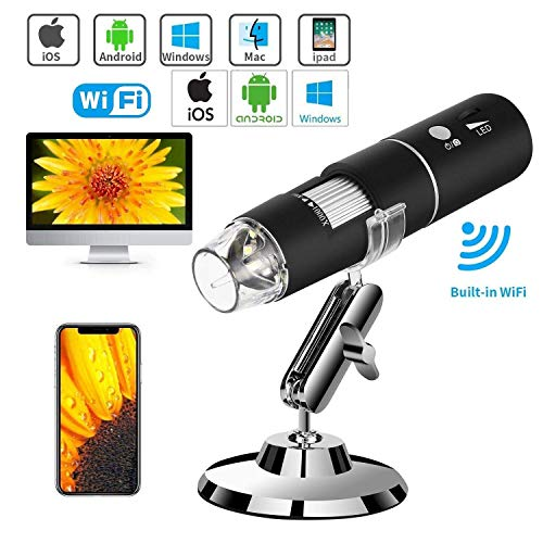 Microware Wireless Digital Microscope 50X-1000X 1080P Handheld Portable Mini WiFi USB Microscope Camera with 8 LED Lights for iPhone/iPad/Smartphone/Tablet/PC Price & Reviews