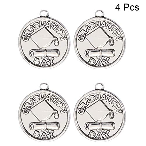 - LUOEM 4Pcs Graduation Cap Charm Pendants DIY Jewelry Making Charms with Diploma Graduation Pendant Gifts for Chain Necklace Bracelet Accessory