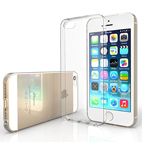 Apple iPhone 5 / 5G / 5S Clear / Transparent Tpu Jelly Rubber Gel Skin Case Cover by Coolcase
