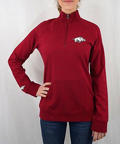 (Elite Fan Shop Arkansas Razorbacks Women's Quarter Zip Cardinal -)