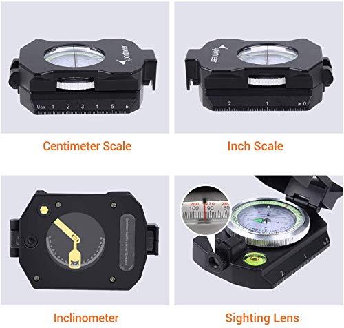 Sportneer Boussole d'observation légère avec inclinomètre, calculateur de Distance, boussoles de Survie Militaires… 3