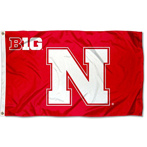 College Flags and Banners Co. University of Nebraska Big 10 3x5 Flag