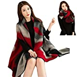 Chicone Women Poncho & Scarf Multi Use Faux Fleece Shoulder Wrap Shawl