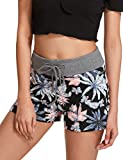 SweatyRocks Camouflage Women's Workout Yoga Hot Shorts Floral Print M