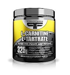 Primaforce, L-Carnatine L-Tartrate Powder, Unflavored, 325 Gram