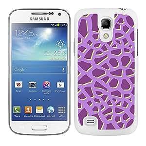 Funda carcasa para Samsung Galaxy S4 Mini diseño ilustración estampado jirafa malva borde blanco
