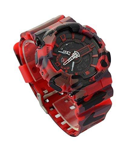 Ideashop Red Mens Dual Time Led Digital Watch Dive Waterproof Sports Fashion .. 14