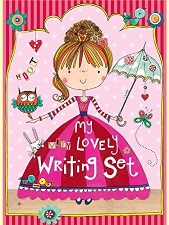 JewelKeeper Little Princess Girls Writing Set, Multi-Use Stationery Pack, Rachel Ellen Collection -