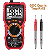 Tacklife DM01M Advanced Digital Multimeter TRMS 6000 Counts Multi Tester Non Contact Voltage Detection Amp Ohm Volt Multi Meter Temperature,Live Line, with LCD Backlit - Ideal Father's Day Gift