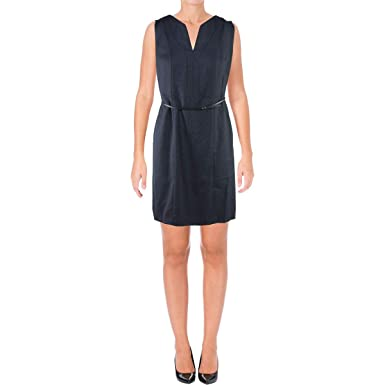8bf2095d975 Hugo Boss BOSS Womens Dalanda Professional Wear to Work Dress Navy 6 ...