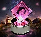 SJMM Crystal Windmill DIY Fotos Custom Rotary Adornos Regalos De Cumpleaños,No Hay Música