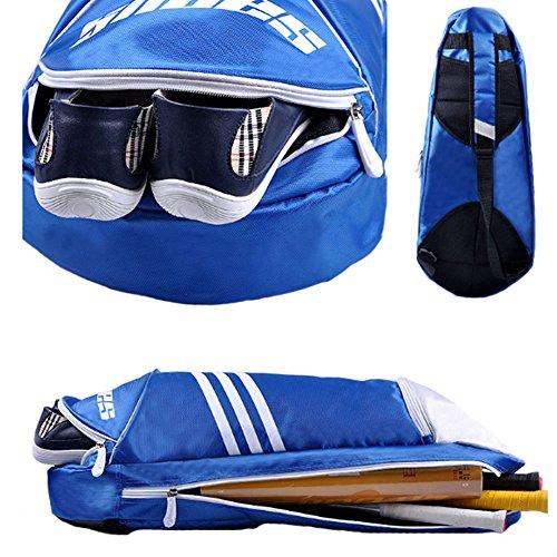 Waterproof Badminton Racket Cover Racquet Bag Sling Bag Backpack Sports - Purple by Kylin Express (Image #1)