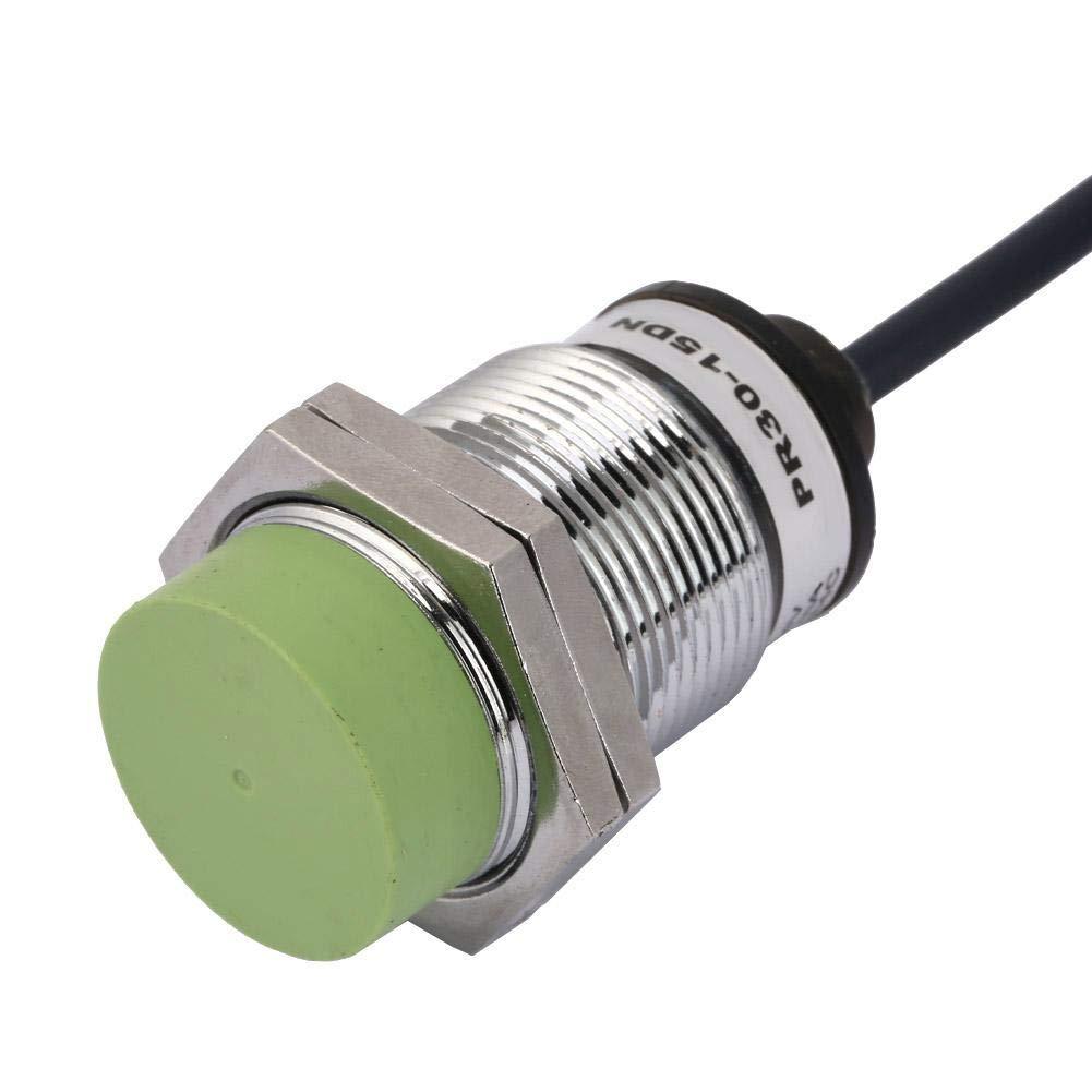 Interruptor del sensor de proximidad inductivos de 15 mm, NPN NO Interruptor del sensor de detección de proximidad Latón niquelado PR30-15DN: Amazon.es: ...