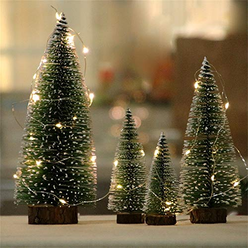 Best Choice Decoration for Christmas Ankola 3.9inch-11.8inch Premium Artificial Christmas Pine Tree White Cedar Easy Assembly with Light (7.8inch, As Shown) by Ankola Black Friday Specials (Image #1)