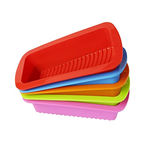 OUNONA Molde rectangular silicona para Pan molde para tartas ...