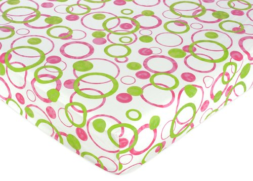 Circles Fitted Crib Sheet for Baby and Toddler Bedding Sets