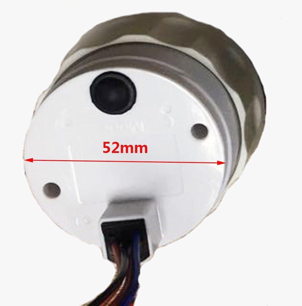 0-180ohm SAMDO Universal Fuel Gauge Digital Fuel Level Gauge Marine Fuel Meter Full Waterproof Signal Adjustable 7 Color Backlight 52mm 12V//24V 0-190ohm 240-30ohm 240-33ohm 10-180ohm