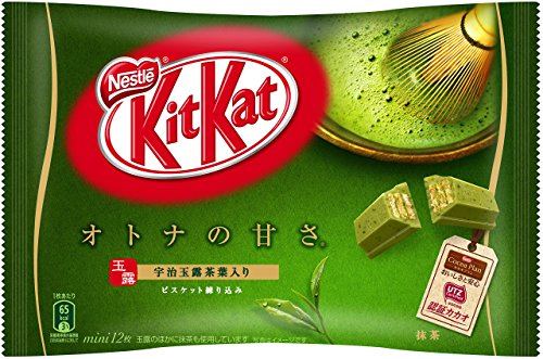 Japanese Kit Kat Matcha Green Tea Flavor | Sweetness for Adults, mini 12 pcs (Japan ()