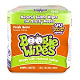 Boogie Wipes Natural Saline Nose Wipes for Kids and Babies, Fresh, 90-Count