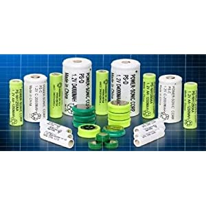 "NiCd - Nickel Cadmium Battery 1.2V 300mAH ""2/3AA"" W/FLAT TOP (10 pieces)"