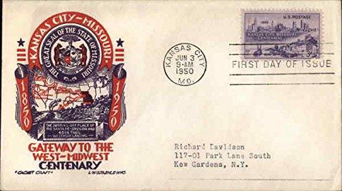 Kansas City - Missouri Gateway to the West-Midwest Centenary 1850 - 1950 Original First Day - Cover Centenary