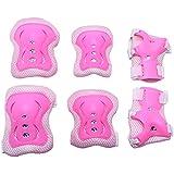 Mudder Kids Knee/ Elbow/ Wrist Pads Guards Set, Pink
