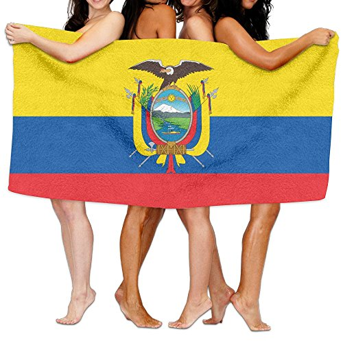 HSs4AD Flag Of Ecuador Bath Towel Sports Beach Pool Super So