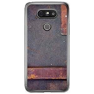 Loud Universe LG G5 Madala N Marble A Leather 2 Printed Transparent Edge Case - Blue