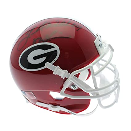 320254707 Herschel Walker Georgia Bulldogs Autographed Signed Schutt Mini Helmet with 82  Heisman Inscription - Beckett Certification