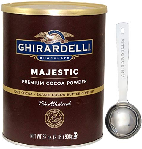 (Ghirardelli Majestic Premium Cocoa Powder, 32 Ounce Can - with Limited Edition Measuring Spoon)
