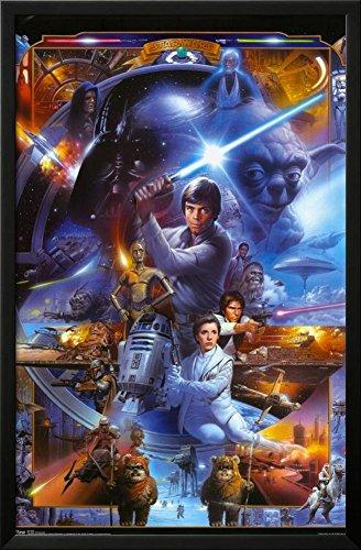 star wars poster framed - 2
