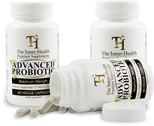 The Inner Health Probiotics Made in USA to Support Weight Loss, Healthy Gut and Immune System - 5.75 Billion Organisms; Bacillus Subtilis Lactobacillus Rhamnosus Lactobacillus Acidophilus L. Casei
