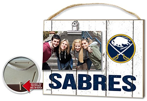 "KH Sports Fan 10""x8"" Buffalo Sabres Clip It Weathered Logo NHL Photo Frame"