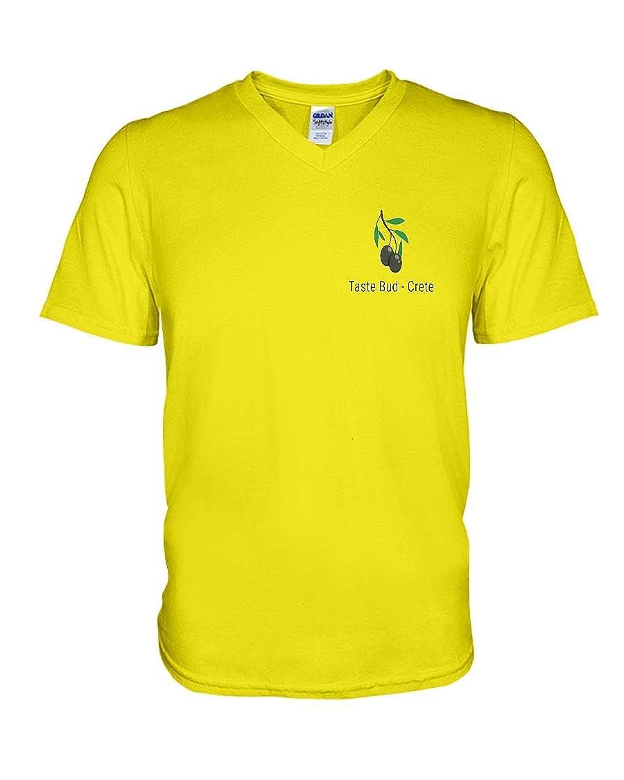 Crete V-Neck T-Shirt Neon Yellow M JULY MEROLLIs Taste Bud