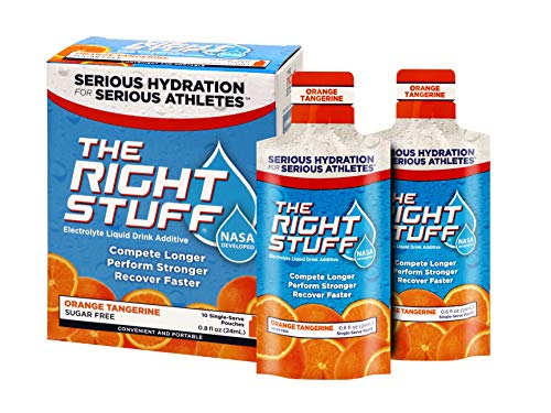 Hammer Perpetuem Energy Drink - The Right Stuff Electrolyte Drink additive Std - Retail 10-Pouch Box - Orange Tangerine
