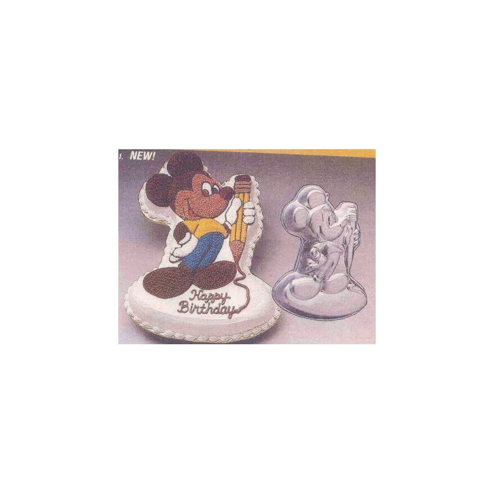 Wilton Cake Pan Mickey Mouse with Pencil (502 2987, 1983)