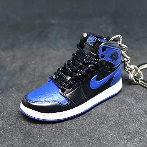 Air jordan I 1 Retro High OG Royal Blue/Black Sneakers Shoes 3D Keychain (Air Jordan 1 Retro Royal)