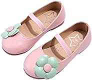 PPXID Toddler Little Girl's Princess Mary Jane Beautiful Flower Oxford Flat Dress S