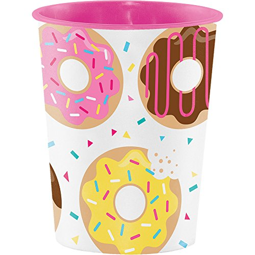 Creative Converting Plastic Keepsake Cups, Donut Time (12-Count) - 324236