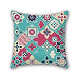 NICEPLW 20 x 20 inches / 50 by 50 cm flower pillow covers ,double sides ornament and gift to valentine,dance room,lounge,sofa,wedding,home