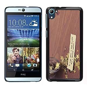 EJOY---Cubierta de la caja de protección la piel dura para el / HTC Desire D826 / --Lucky Star en la mesa