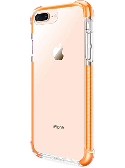 official photos 25050 44b2d iPhone 8 Plus 7 Plus Shatterproof Hard Case (Clear) with Bumper Edges for  Apple iPhone 8 Plus 7 Plus by DAUPIN Yellow