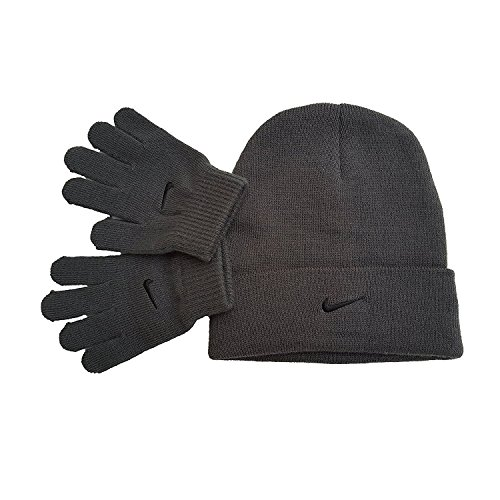 Nike Big Boys' Snow Runner Beanie and Glove Set (Boys Beanie)