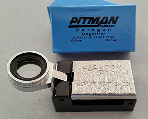 PITMAN PARAGON 10X / 10 POWER PRINTER'S FOLD-OUT MAGNIFIER/LOUPE / -