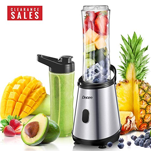 Blender, Decen Personal Blender Smoothie Blender for Shakes and Smoothies with 2 Titanium Coated Blades, Single Serve Small Blender with 2 x 20 oz Tritan BPA-Free Portable Bottles, - Hamilton Pull Ring