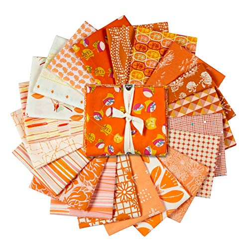 (Art Gallery Fabrics Exclusive Bundle 20 Fat Quarters Orange)